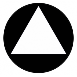 "Cal Royal AGH-U3 All Gender Restroom Contrasting Triangle on 12"" Circle"