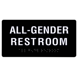 Cal Royal AGH-48 All Gender Restroom Signs (ADA) with Braille