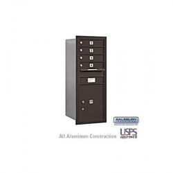 "Salsbury 4C Horizontal Mailbox Unit (41"") - Single Column - 4 MB1 Doors / 1 PL5"