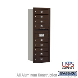"Salsbury 4C Horizontal Mailbox Unit (41"") - Single Column - 9 MB1 Doors"