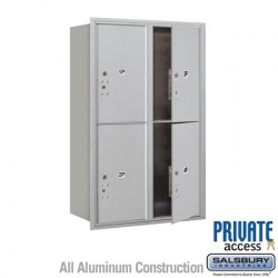 "Salsbury 4C Horizontal Mailbox Unit (44-1/2"") - Double Column - Stand-Alone Parcel Locker - 4 PL6's"