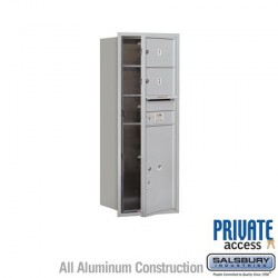 "Salsbury 4C Horizontal Mailbox Unit (44-1/2"") - Single Column - 2 MB2 Doors / 1 PL6"