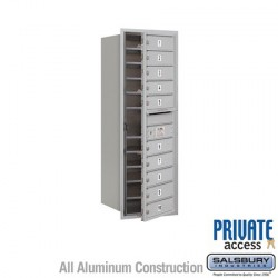 "Salsbury 4C Horizontal Mailbox Unit (44-1/2"") - Single Column - 10 MB1 Doors"