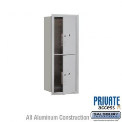 "Salsbury 4C Horizontal Mailbox Unit (44-1/2"") - Single Column - Stand-Alone Parcel Locker - 2 PL6s"