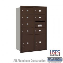 "Salsbury 4C Horizontal Mailbox Unit (48"") - Double Column - 7 MB2 Doors and 2 PL5's"