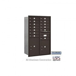 "Salsbury 4C Horizontal Mailbox Unit (48"") - Double Column - 12 MB1 Doors / 2 PL6's"