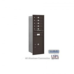 "Salsbury 4C Horizontal Mailbox Unit (48"") - Single Column - 5 MB1 Doors / 1 PL6"