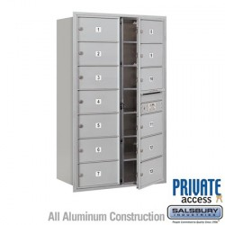 "Salsbury 4C Horizontal Mailbox Unit (51-1/2"") - Double Column - 13 MB2 Doors"