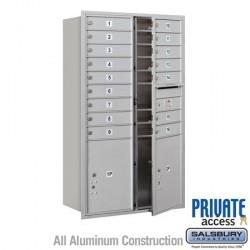 "Salsbury 4C Horizontal Mailbox Unit (51-1/2"") - Double Column - 16 MB1 Doors / 2 PL5s"
