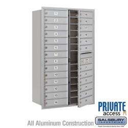 "Salsbury 4C Horizontal Mailbox Unit (51-1/2"") - Double Column - 26 MB1 Doors"