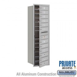 "Salsbury 4C Horizontal Mailbox Unit (51-1/2"") - Single Column - 12 MB1 Doors"