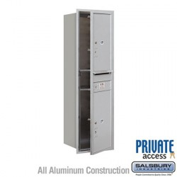 "Salsbury 4C Horizontal Mailbox Unit (51-1/2"") - Single Column - Stand-Alone Parcel Locker - 2 PL6s"