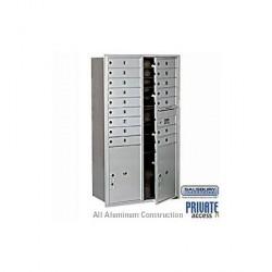"Salsbury 4C Horizontal Mailbox Unit (55"") - Double Column - 16 MB1 Doors / 2 PL6's"