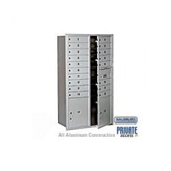"Salsbury 4C Horizontal Mailbox Unit (55"") - Double Column - 17 MB1 Doors / 1 PL5 and 1 PL6"