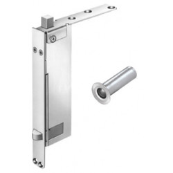 DCI T945 Trim Package for Self-Latching Flush Bolt & Bottom Automatic Flush Bolt for Wood Doors