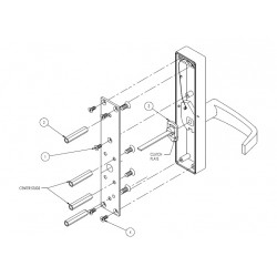 DCI 14-L Lever Trim for 1200 & 1300 Series, Lever Retracts the Latch