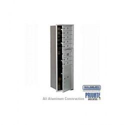 "Salsbury 4C Horizontal Mailbox Unit (55"") - Single Column - 4 MB2 Doors / 1 PL5"