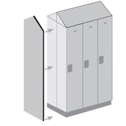 "Salsbury 22247 Double End Side Panel for 24"" Deep Designer Wood Locker w/ Sloping Hood"