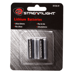 Streamlight CR123A Lithium Batteries