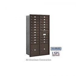 "Salsbury 4C Horizontal Mailbox Unit (56-3/4"") - Double Column - 20 MB1 Doors / 2 PL's"