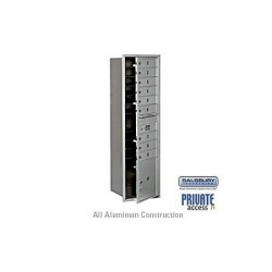 "Salsbury 4C Horizontal Mailbox Unit (56-3/4"") - Single Column - 3 MB3 Doors / 1 PL"