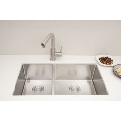 American Imaginations AI-27503/ AI-27504 32-in. W CSA Approved Chrome Kitchen Sink With Stainless Steel Finish And 18 Gauge