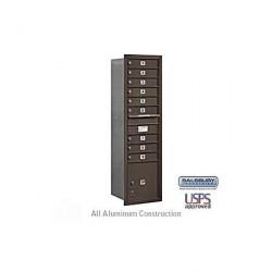 "Salsbury 4C Horizontal Mailbox Unit (56-3/4"") - Single Column - 3 MB2 Doors / 1 MB3 Door / 1 PL"