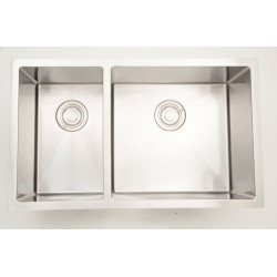 American Imaginations AI-27513/ AI-27514 30-in. W CSA Approved Chrome Kitchen Sink With Stainless Steel Finish And 18 Gauge