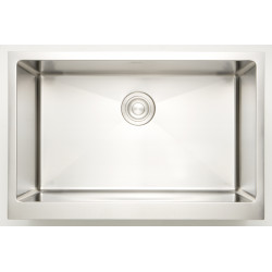 American Imaginations AI-27517/ AI-27518 25-in. W CSA Approved Chrome Kitchen Sink With Stainless Steel Finish And 18 Gauge