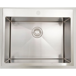 American Imaginations AI-27539 27-in. W CSA Approved Chrome Kitchen Sink With Stainless Steel Finish And 18 Gauge