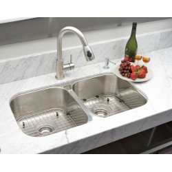 American Imaginations AI-27557/ AI-27558 27-in. W CSA Approved Chrome Kitchen Sink With Stainless Steel Finish And 18 Gauge