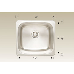 American Imaginations AI-27565/ AI-27566/ AI-27569/ AI-27570 20-in. W CSA Approved Chrome Kitchen Sink With Stainless Steel Finish And 18 Gauge