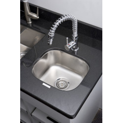 American Imaginations AI-27575/ AI-27576 15-in. W CSA Approved Chrome Kitchen Sink With Stainless Steel Finish And 18 Gauge