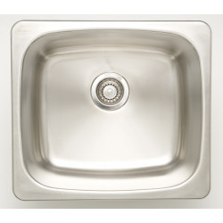 American Imaginations AI-2759_ 20-in. W CSA Approved Chrome Kitchen Sink With Stainless Steel Finish And 18 Gauge