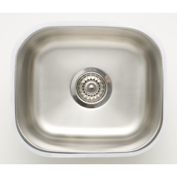 American Imaginations AI-27614/ AI-27615 15-in. W CSA Approved Chrome Kitchen Sink With Stainless Steel Finish And 18 Gauge