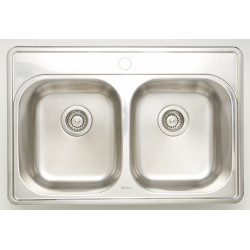 American Imaginations AI-27620/ AI-27621/ AI-27771 30.5-in. W CSA Approved Chrome Kitchen Sink With Stainless Steel Finish And 18 Gauge