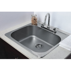 American Imaginations AI-27622/ AI-27623/ AI-27770 25-in. W CSA Approved Chrome Kitchen Sink With Stainless Steel Finish And 18 Gauge