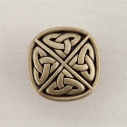 "Acorn DQG Celtic Square Cabinet Knob 1-1/4"" x 1-1/4"""