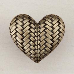 "Acorn DQJ Woven Heart Cabinet Knob 1-1/2"" x 1-3/4"""