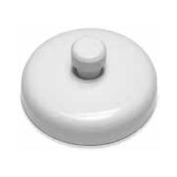Magnet Source MHHWP14 White Ceramic Magnetic Base with Keyhole Knob