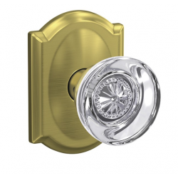 Schlage FC Custom Hobson Glass Knob