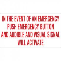 Camden CX-WEC Emergency Call System Optional Signage
