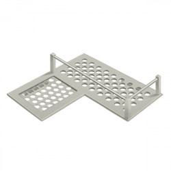 Deltana WBHDCL9 Bathroom Basket HD Corner left 9""