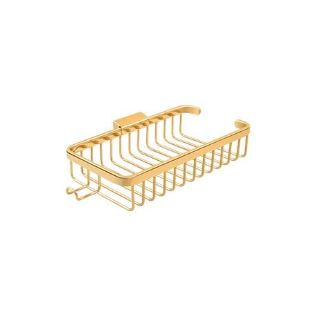 "Deltana WBR1052H Wire Basket, 10-3/8"" Rectangular, Shallow, with Hook"
