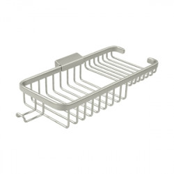 "Deltana WBR1051HU Wire Basket 10-3/8"", Rectangular Deep & Shallow, with Hook"
