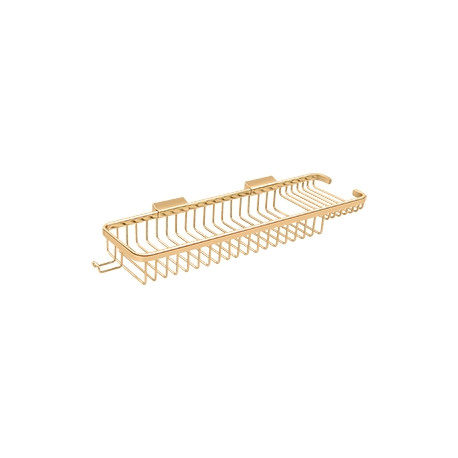 "Deltana WBR1850H Wire Basket 17-3/8"", Rectangular Deep & Shallow, with Hook"