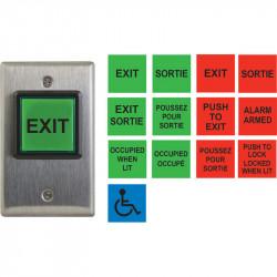 Camden CM-30 Series Square Illuminated Multi Label Push/Exit Switch