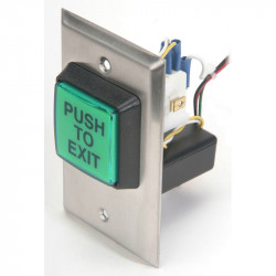 Camden CM-30 Series Square Illuminated Push/Exit Switch with 30 Second Timer
