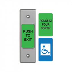 "Camden CM-9700/9710 2"" Piezo Electric Push/Exit Narrow Faceplate Switch"