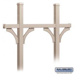 Salsbury Deluxe Mailbox Post - Bridge Style for (5) Mailboxes - In-Ground Mounted